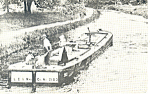 Click here to enlarge image and see more about item p15043: Canal Boat on Lehigh Delaware Canal Postcard