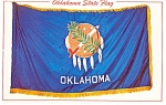 Click here to enlarge image and see more about item p1504: Oklahoma State Flag Postcard p1504