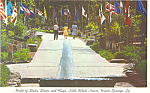 Walk of States Warm Springs GA Postcard p15055