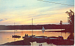 Click here to enlarge image and see more about item p15098: Anchorage at Sunset, Maine  Postcard 1964