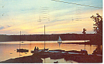 Click here to enlarge image and see more about item p15100: Anchorage at Sunset, Maine  Postcard 1963