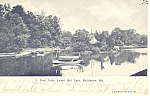 Click here to enlarge image and see more about item p15137: Boat Lake Druid Hill Baltimore MD Postcard p15137 1911