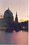 Boston MA  at Twilight Postcard p15169