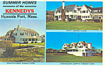 Homes of Kennedys Hyannis Port MA Postcard p15171 1984