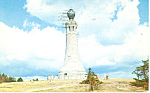 War Memorial, Mt Greylock, MA Postcard 1957