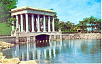 Portico and Rock, Plymouth, MA Postcard