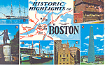 Click here to enlarge image and see more about item p15187: Historic Highlights of Boston, MA Postcard