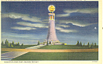 Monument on Mt Greylock, MA Postcard 1939