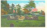 Grave of Myles Standish , Duxbury, MA Postcard
