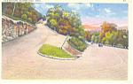 Hairpin Turn,Mohawk Trail, MA Postcard 1936