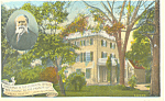 James Lowell Home,Cambridge, MA Postcard