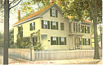 Whittier's Home, Amesbury, MA Postcard 1911
