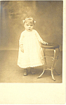 Cute Young Girl Vintage Postcard p15244