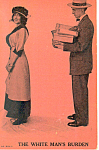 The White Mans Burden Comical Postcard p15249
