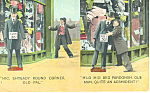 Unsteady Drunk Comical Postcard p15250