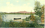 Canoe on Lake, Scenic Postcard