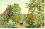 Click here to enlarge image and see more about item p15276: Early Vintage Truck on Road Scenic Postcard p15276