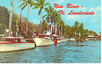 New River Ft Lauderdale Florida Postcard p15283