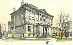 Click here to enlarge image and see more about item p15288: Public Library, Detroit, MI Postcard 1906