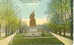 Soldiers Sailors Monument, Jackson, MI Postcard