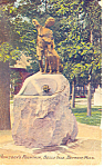 Click here to enlarge image and see more about item p15301: Newsboy Foutain,Detroit MI Postcard 1913