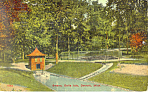 Click here to enlarge image and see more about item p15302: Swans Belle isle Detroit MI Postcard p15302 1912