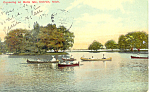 Click here to enlarge image and see more about item p15303: Canoeing Belle Isle Detroit MI Postcard p15303 1910