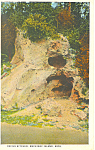 Devils Kitchen, Mackinac Island,MI Postcard 1925
