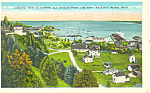 Aerial View Mackinac Island, MI Postcard