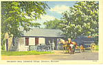 Click here to enlarge image and see more about item p15327: Blacksmith Shop,Greenfield Village, MI Postcard 1957