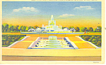 Click here to enlarge image and see more about item p15339: James Scott Fountain, Detroit, MI Postcard 1956