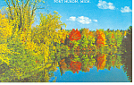 Click here to enlarge image and see more about item p15359: Autumn in Fort Huron MI Postcard p15359