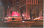 Click here to enlarge image and see more about item p15384: Grand Circus Park at Night Detroit MI Postcard p15384