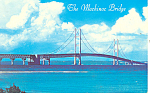The Mackinac Bridge, MI Postcard  1984