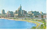 Skyline view of St Paul MN Postcard p15395 1958