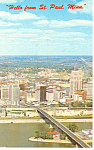 Click here to enlarge image and see more about item p15396: Greetings From St Paul, MN Postcard  1965