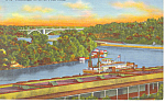 Mississippi River at St Paul,MN Postcard