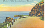Click here to enlarge image and see more about item p15403: Silver Creek Cliff,Lake Superior, MN Postcard  1952