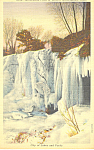 Click here to enlarge image and see more about item p15405: Minnehaha Falls MN in Winter Postcard p15405