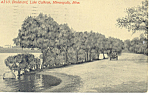 Click here to enlarge image and see more about item p15409: Boulevard, Lake Calhoun,Minneapolis,MN Postcard