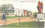 Westminster Place,, St Louis, MO Postcard  1908