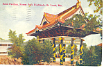 Click here to enlarge image and see more about item p15423: Band Pavilion St Louis, MO Postcard  1908