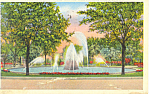 Meyer Circle, Kansas City, MO Postcard 1939