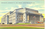 Municipal Auditorium St Louis MO Postcard p15446 1943