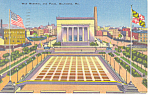 War Memorial and Plaza,Baltimore, MD Postcard 1944