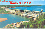 Click here to enlarge image and see more about item p15464: Greetings From Bagnell Dam, MO Postcard