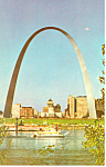 Click here to enlarge image and see more about item p15466: Gateway Arch Waterfront St Louis MO Postcard p15466