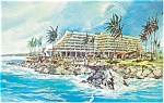Click here to enlarge image and see more about item p1546: Kona Hilton Hawaii Postcard p1546