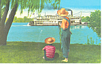 Click here to enlarge image and see more about item p15471: Steamboat on the Mississippi, MO Postcard