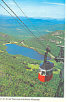 NH Aerial Tramway on Cannon Mountain Postcard 1978